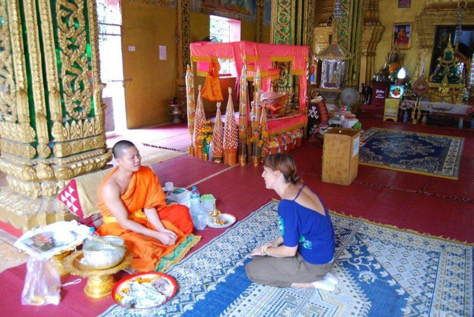 Talking to a Monk