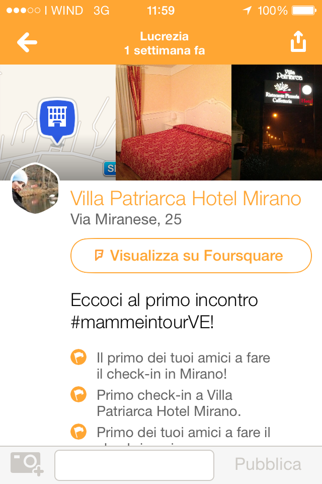 check in Villa Patriarca Mirano