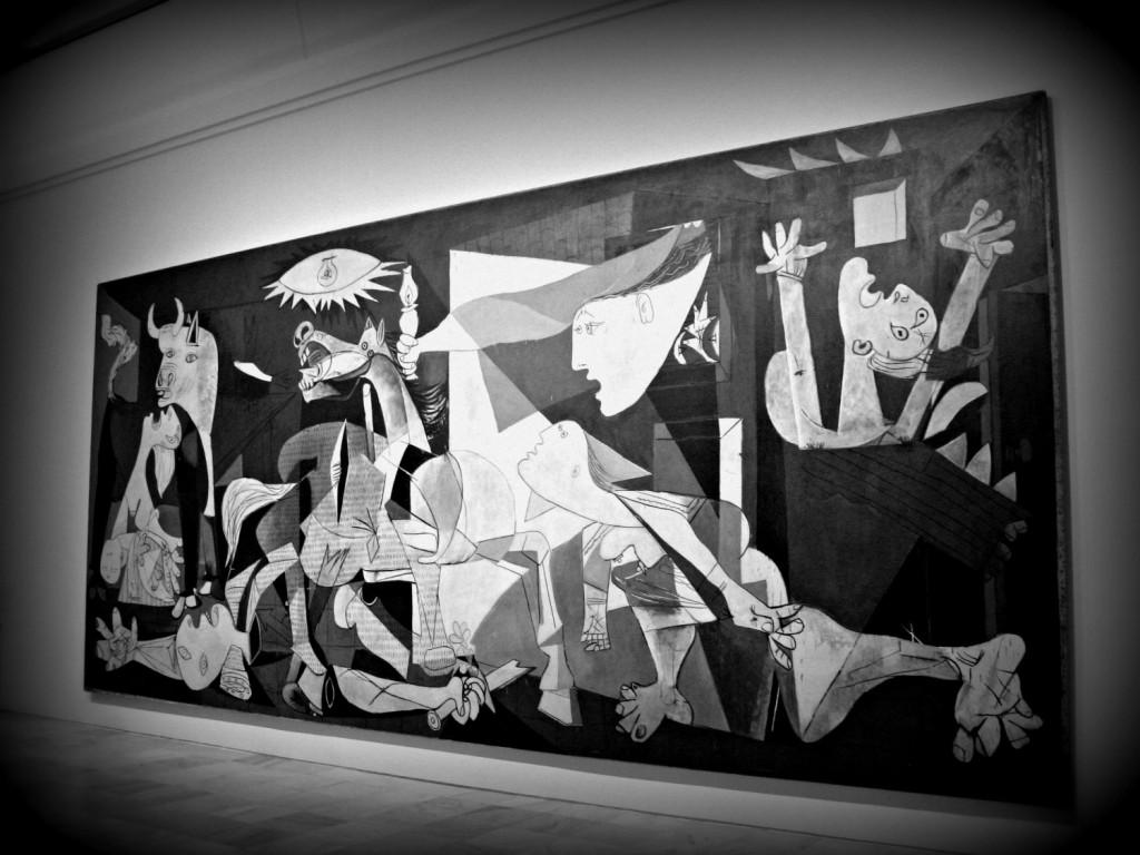 Guernica_Madrid con mio figlio