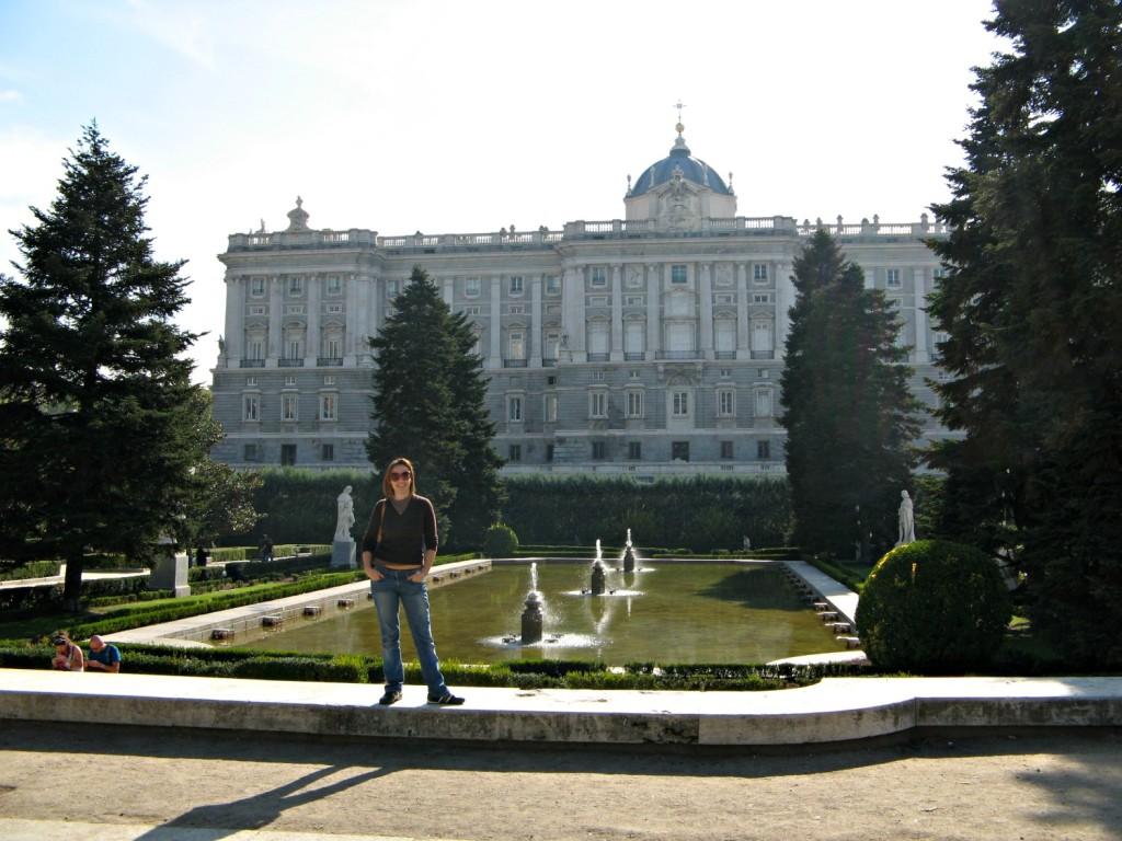 Palazzo Reale 2 _Madrid con mio figlio