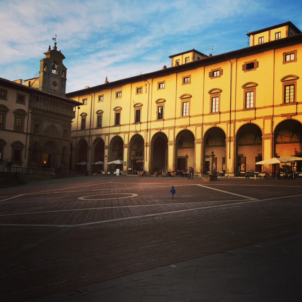 Visitare Arezzo con bambini - Piazza Grande